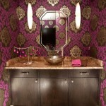 Ferguson Plumbing Supplies for Eclectic Powder Room with Colorful Bathroom