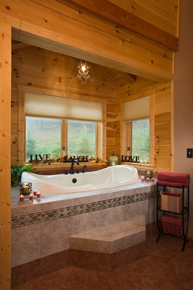 Ferguson Plumbing Supply for Rustic Bathroom with Heavy Timber