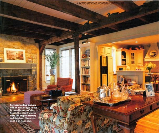 Finehomebuilding for Traditional Living Room with Finehomebuilding Magazine