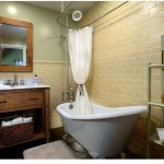 Fitzpatrick Furniture for Farmhouse Bathroom with Yellow Ceramic Tile