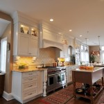 Fitzpatrick Furniture for Transitional Kitchen with Cherry Island
