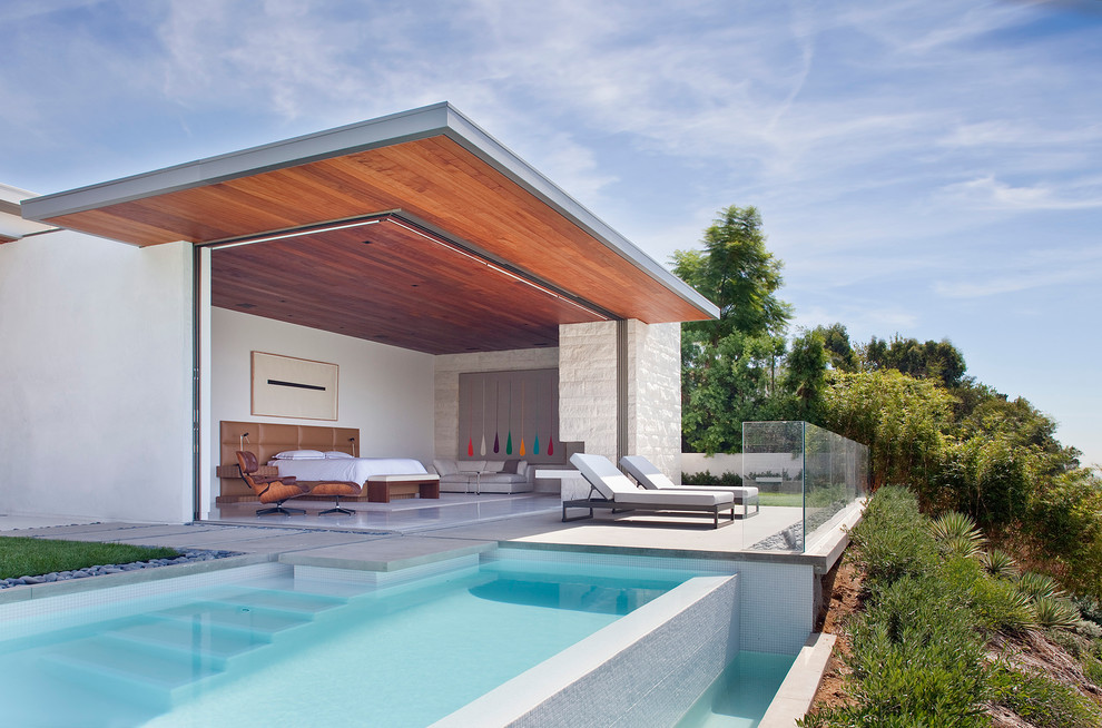 Fleetwood Doors for Contemporary Pool with Desert Landscape
