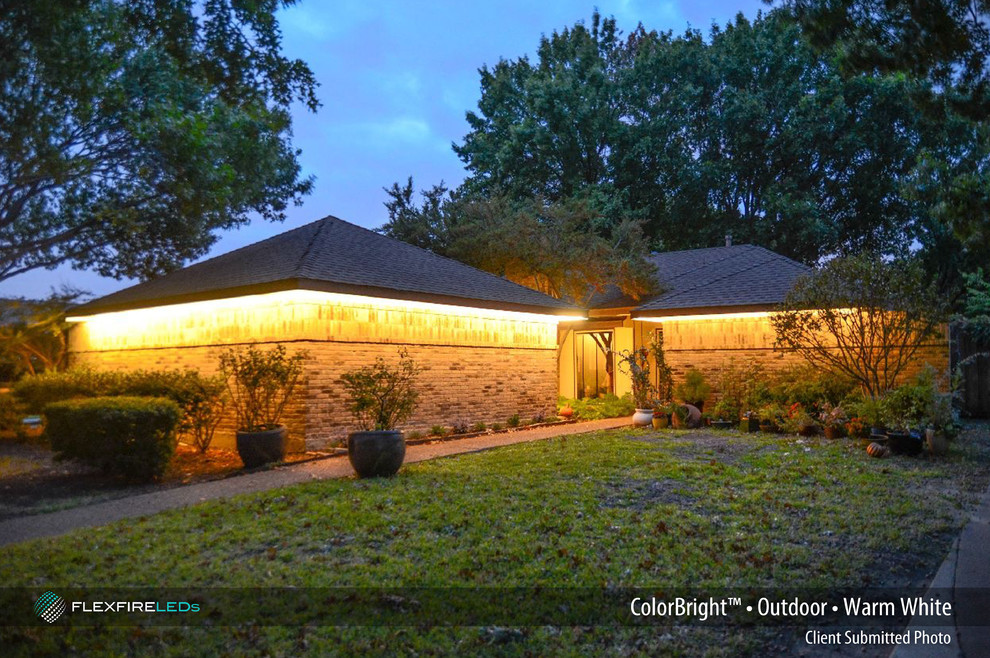 Flexfire Led for Contemporary Exterior with Outdoor Led Strip Lighting