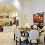 Florida Etr for Traditional Dining Room with Arch