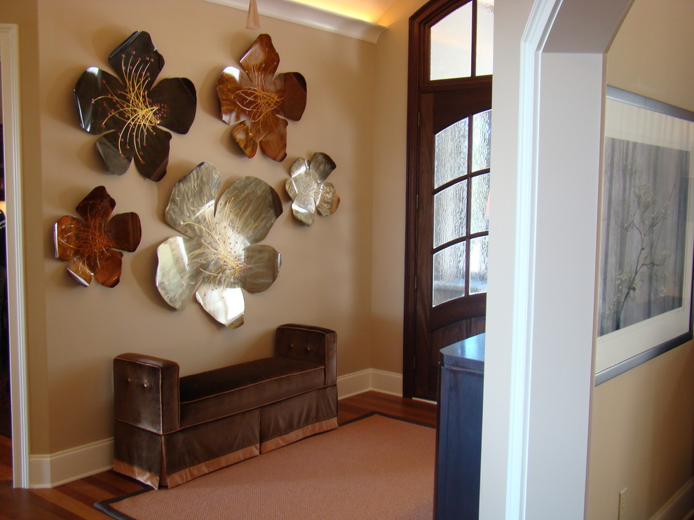 Flowerama for Contemporary Entry with Metal Flower Sculpture