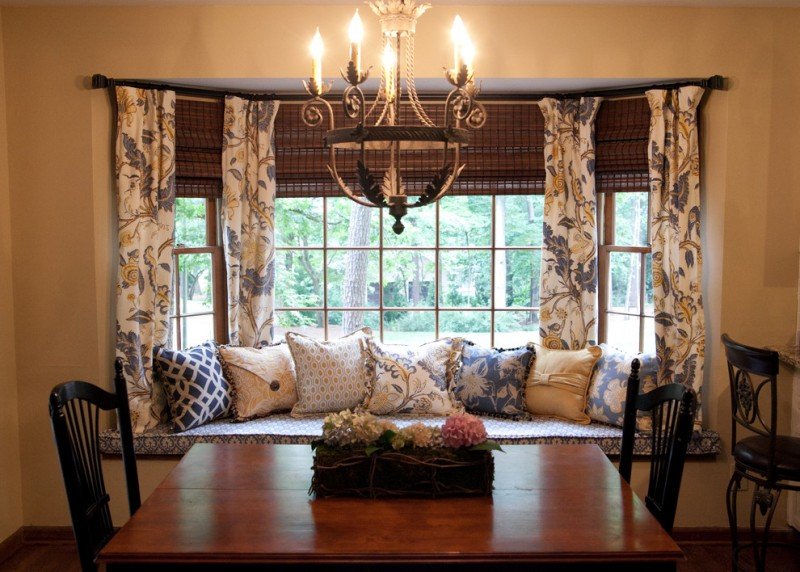 Forsyth Fabrics for Traditional Dining Room with Custom Draperies