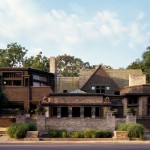 Frank Lloyd Wright Oak Park for Modern Exterior with Brick Siding