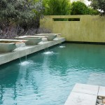 Frank Lloyd Wright Phoenix for Contemporary Pool with Geometric