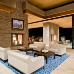 Frank Lloyd Wright Phoenix for Modern Living Room with Recessed Lighting