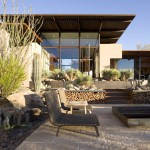 Frank Lloyd Wright Phoenix for Southwestern Patio with Lounging