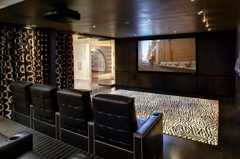 Franklin Tn Movie Theater for Contemporary Home Theater with Wall Upholstery