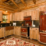 Freds Appliance for Rustic Kitchen with Log Home