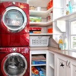 Freds Appliance for Traditional Laundry Room with Red Appliances