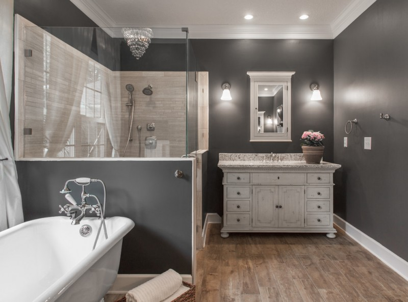 Furniture Mart Jacksonville Fl for Traditional Bathroom with Pony Wall
