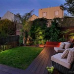Fx Luminaire for Contemporary Deck with Bench Sitting