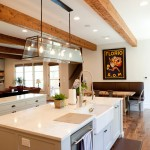 Fx Luminaire for Traditional Kitchen with Black Cup Pulls