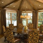 Gabberts Furniture for Rustic Dining Room with Chandelier