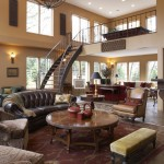 Gabberts Furniture for Traditional Living Room with Decorative Iron Handrail