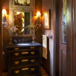 Gabberts Furniture for Traditional Powder Room with Bathroom Mirror