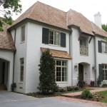 Gaf Timberline Shingles for Traditional Exterior with Wood Shutters