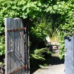 Garden Crossings for Rustic Landscape with Gate