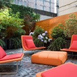 Gardiners Furniture for Contemporary Patio with Back Garden