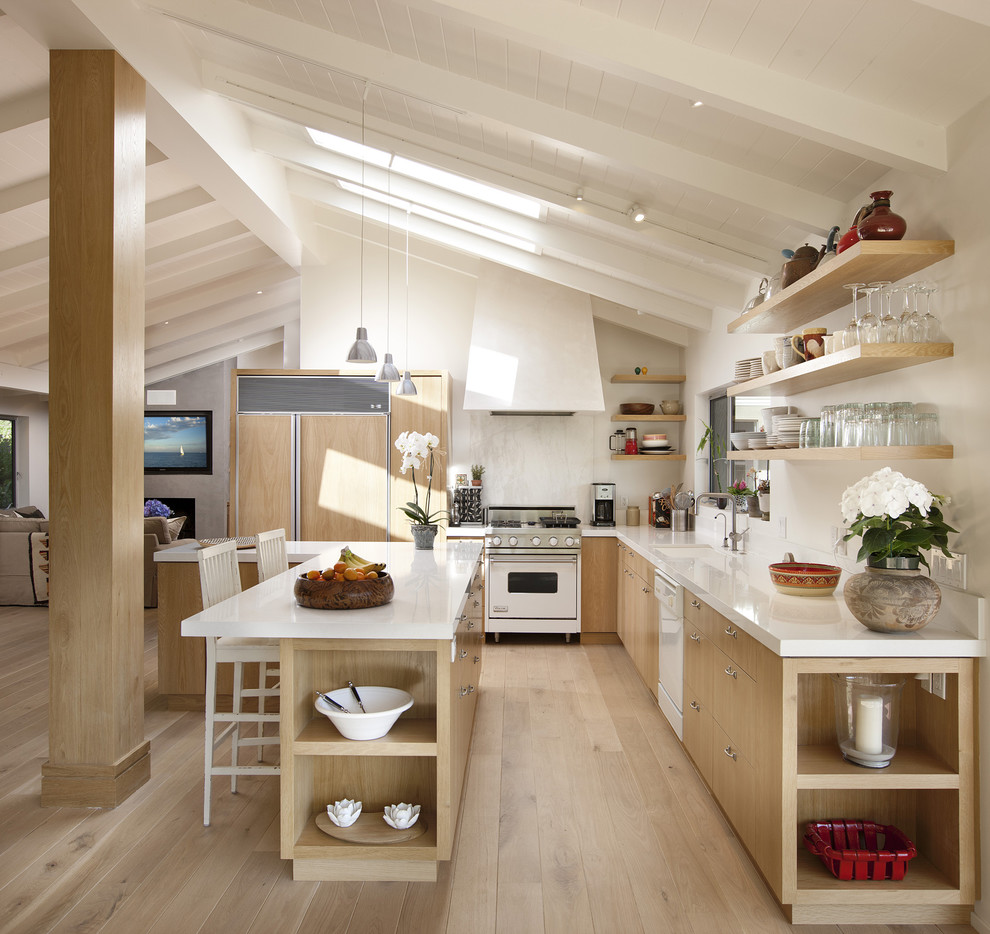 Gardner White Clearance for Contemporary Kitchen with Floating Shelves
