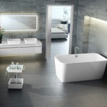 Gas Dryer vs Electric for Contemporary Bathroom with Electric Mirror