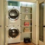 Gas Dryer vs Electric for Contemporary Laundry Room with Organized Laundry Room