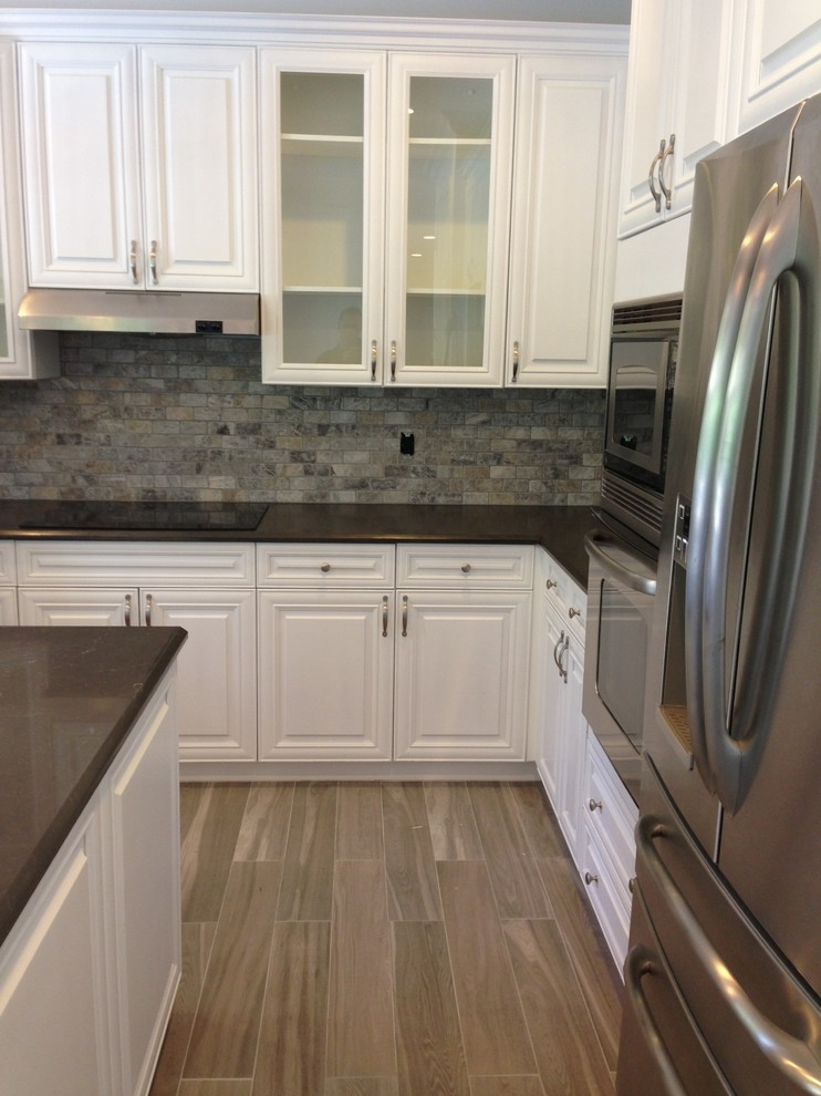 Gemco for Beach Style Kitchen with Porcelain Floor Tile