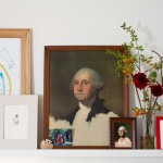 George Washington Toma for Eclectic Spaces with Shelf Decor
