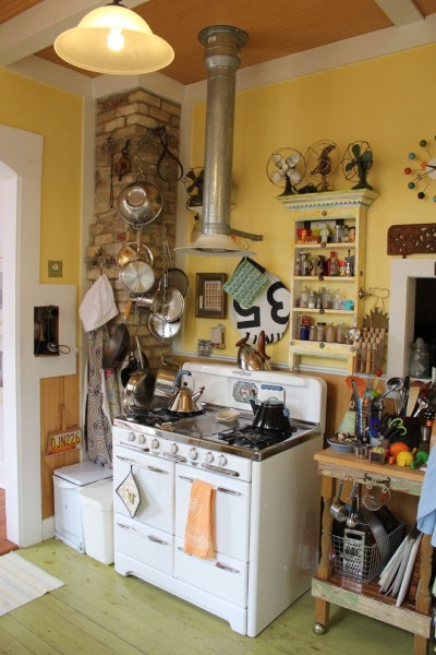 Georgia Contractors License for Eclectic Kitchen with Hanging Pot Racks
