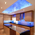 Glassed for Contemporary Kitchen with Glass Backsplash