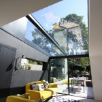 Glassed for Contemporary Living Room with Geometric