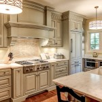 Glazing Cabinets for Traditional Kitchen with Danby Marble