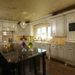 Glazing Cabinets for Traditional Kitchen with Raised Panel Cabinets