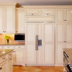 Glazing Cabinets for Traditional Kitchen with Tile Floor