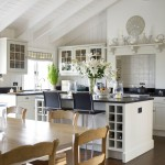 Glazing Kitchen Cabinets for Farmhouse Kitchen with Wine Rack