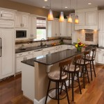Glazing Kitchen Cabinets for Traditional Kitchen with Black Countertop