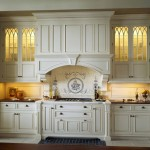 Glazing Kitchen Cabinets for Traditional Kitchen with Bump Out