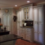 Glazing Kitchen Cabinets for Traditional Kitchen with Faux Cabinets