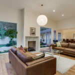 Glhomes for Contemporary Living Room with Wood Flooring