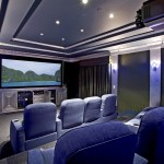 Glhomes for Eclectic Home Theater with Recessed Lighting