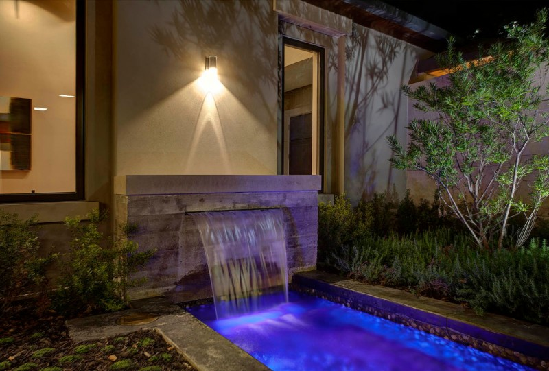 Gold Medal Pools for Transitional Pool with Pool Fountain