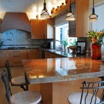 Granite Edges for Eclectic Kitchen with Recessed Lighting