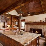 Granite Edges for Rustic Kitchen with Kitchen Appliances