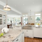 Granite Imports for Traditional Kitchen with Reclaimed Wide Plank Hardwood Floors