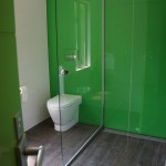 Green Thumb Ventura for Contemporary Bathroom with Green Wall