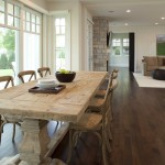 Greenfront Furniture for Shabby Chic Style Dining Room with Dark Floor