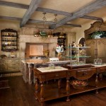 Greenfront Furniture for Traditional Kitchen with Wood Floor